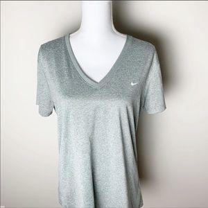 NIKE Dri Fit Short Sleeve Tee Shirt Gray XL